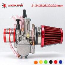 Alconstar- PWK 21 24 26 28 30 32 34 milímetros Carb Carburador com Filtro de Ar Da Motocicleta ATV Buggy Quad dirt Bike fit 2T 4T JOG DIO