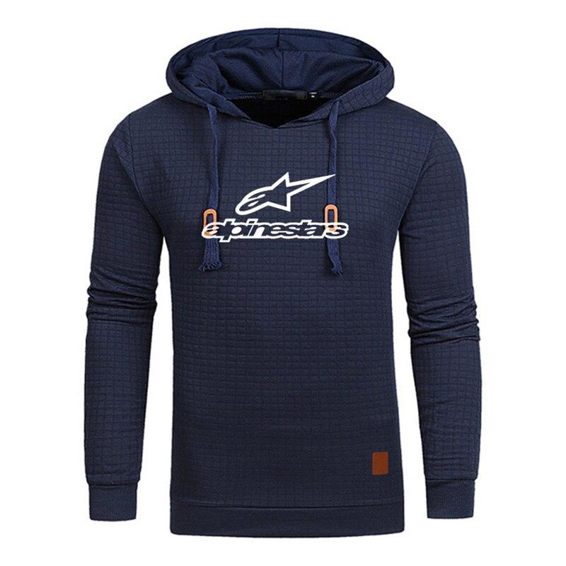 Alpinestars Casual Long Sleeve Hoodie Men Sweatshirt Men Solid Color Fitness Hoodies Loose Streetwear Tops Oversized Clothing