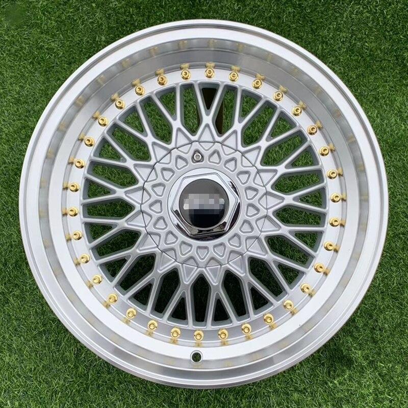 Neumático de aleación de Llantas de ruedas para coche, de 17 pulgadas pieza fundida, plateado, rs, 4 Uds.