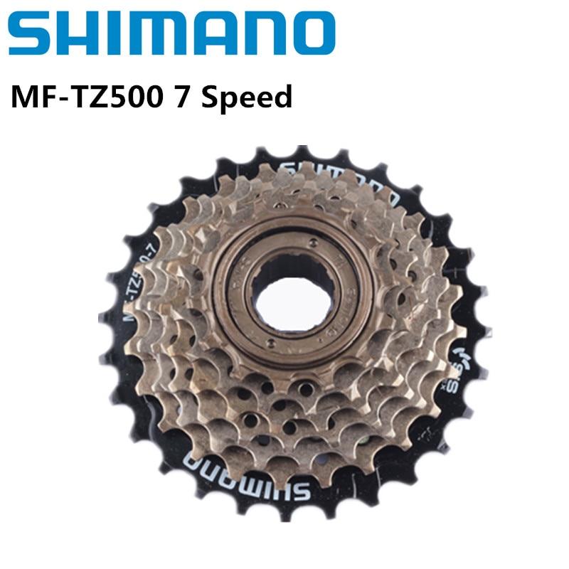 Shimano велосипеды Фривил, MF-TZ500 / TZ21 7 скоростная кассета свободного хода велосипеда 14-28T для велосипедов MTB дорожный Велоспорт велосипед Обновл...