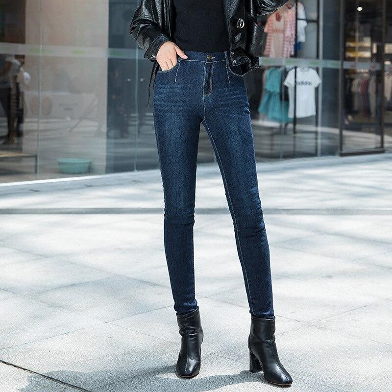 Shuchan Skinny Jeans Woman 90% White Duck Down Ankle-Length Pants High Waist Pencil Pants High Street Womens Jeans 2019 Winter