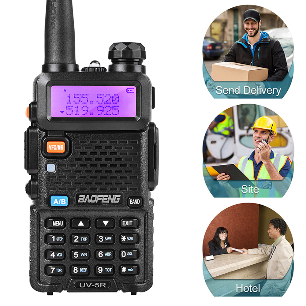 Upgrade 8W/4W/1W Walkie Talkie 10km Walkie-talkie Ham Radio For Baofeng UV-5R Lithium-ion Battery With High Capacity