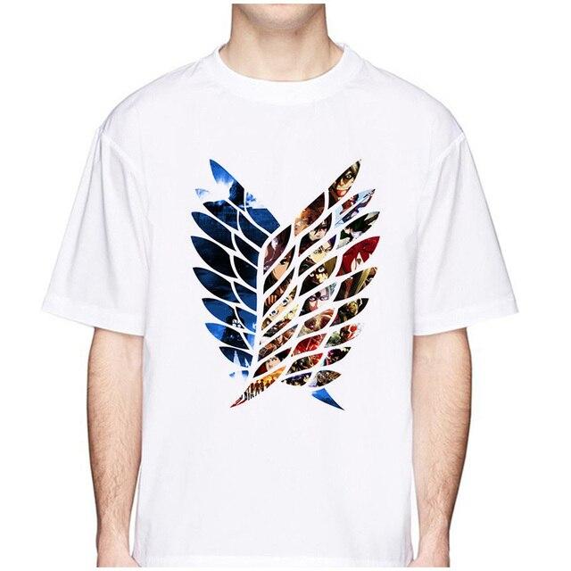 Attack On Titan T Shirt New Summer Men Fashion Anime Print T-Shirt Short Sleeve Tee Hipster Cool Tshirt Funny Design Tops