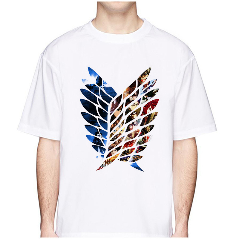 Attack On Titan T Shirt New Summer Men Fashion Anime Print T-Shirt Short Sleeve Tee Hipster Cool Tshirt Funny Design Tops