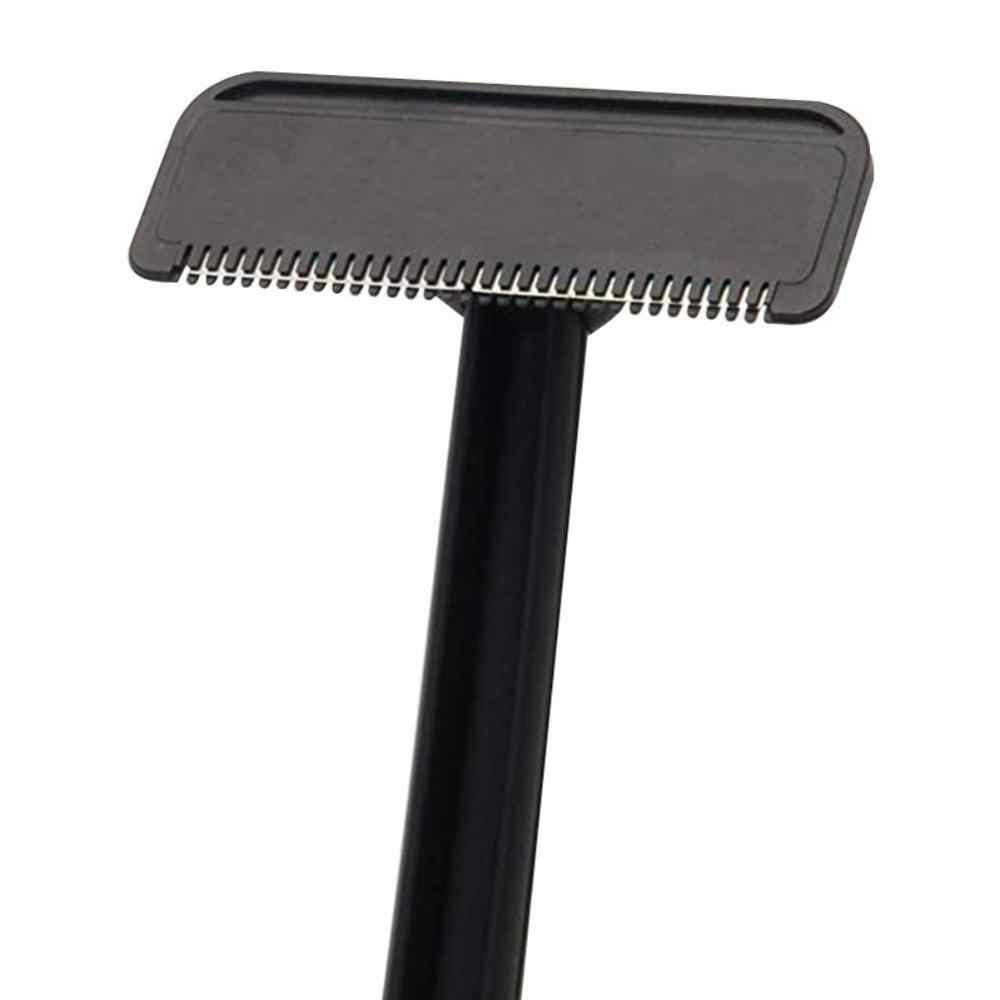 Mango largo Manual de seguridad para hombre, afeitadora de pelo, recortadora de hoja grande, herramienta de depilación, herramienta de eliminación de cabello, pierna de cuerpo entero de Trimer