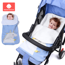 все цены на Thicken Newborn Baby Sleeping Bag Envelope Winter Warm Knit Baby Sleepsacks Swaddle Wrap Blanket Infant Baby Footmuff Stroller онлайн