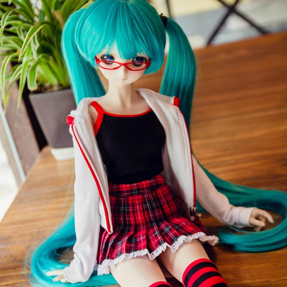 [wamami] COS Vocaloid Hatsune Miku Uniform Suit 1/4 1/3 DD SD DZ BJD Dollfie Outfits