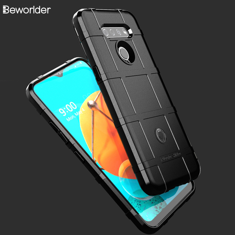 Armor Cases For LG K51 Anti-Slip Rugged Shield Military Protect Back Cover For LG Q51 Phone Cases Silicone