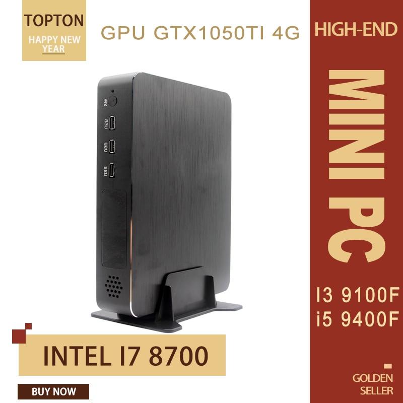 Topton I9 Gamer Mini PC , Intel Core I3 9100F/I5 9400F/i7 8700F Nvidia GTX1050TI 4GB GDDR5 2*HDMI2.0, 1*DP, 1*DVI 4 Display Port