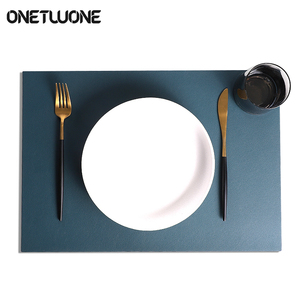Image 5 - Leather Placemats Washable Table Mat Tablemats Stain Resistant Dining Disc Bowl Pad Coaster Non slip Decoration Table Mat