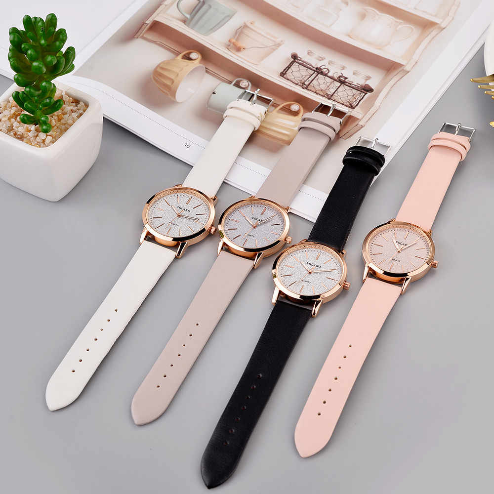 Luxus Marke Leder Quarz frauen Uhr Damen Mode Uhr Frauen Armbanduhr Uhr relogio feminino stunden reloj mujer saati