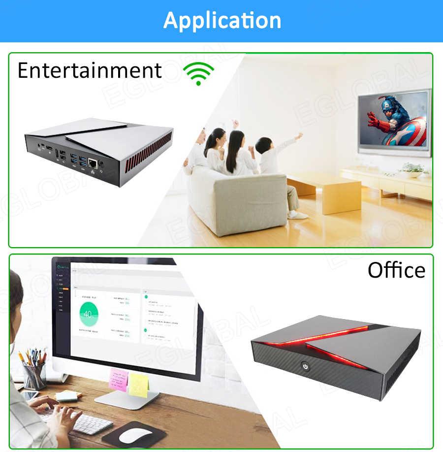 Nowy do gier Mini komputer Intel rdzeń i9 i7-9750H i5-9300H GeForce GTX 1650 4GB 2 * DDR4 pulpit PC z systemem Windows 10 4K HDMI DP typu C AC WiFi