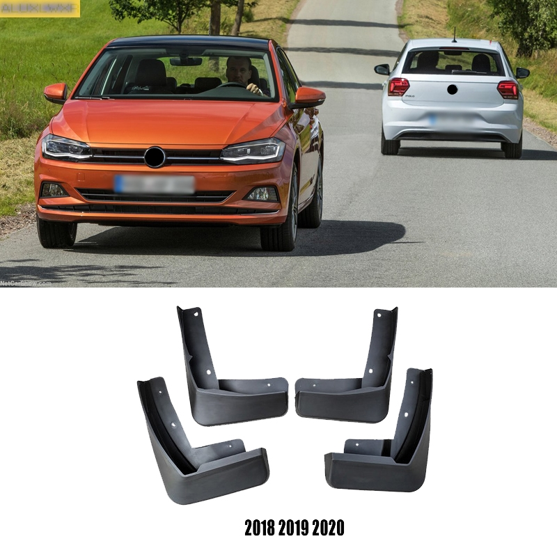 For Volkswagen POLO GTI 6c mk6 MK7 2014 2020 Mudflaps Splash Guards Mud Flap Mudguards Fender Front Rear Molded Car Accessories Mudguards     - title=