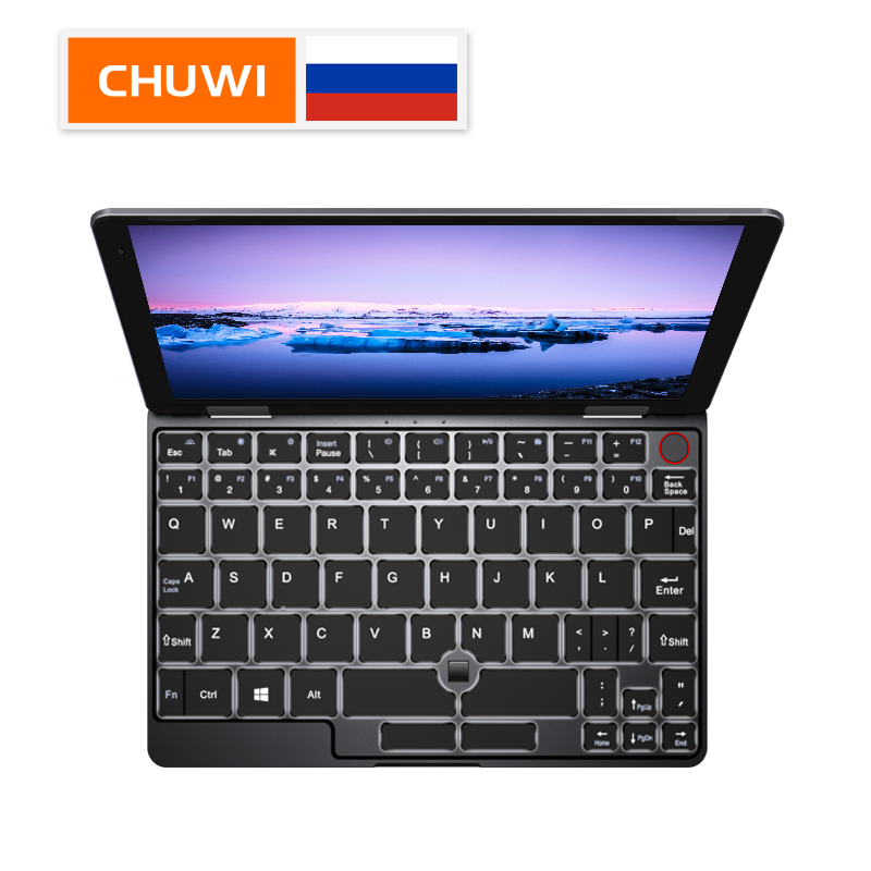 CHUWI MiniBook IPS Screen 8 Inch Laptop Intel Core M3 8100Y Quad Core 8GB RAM 128GB ROM Windows 10  With Backlit Keyboard