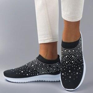 Image 5 - אישה נעלי סניקרס לנשים 2020 אופנה נשי נעלי גופר מזדמנים גבירותיי שטוח רשת מאמני Bambas Mujer סל Femme