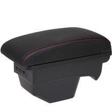 Для 308 SW подлокотник коробка Универсальная автомобильная центральная консоль caja Модификация аксессуары с USB без сборки