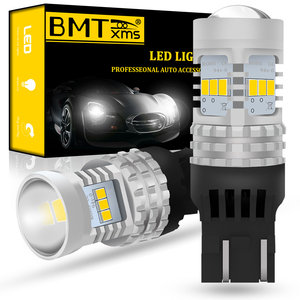 BMTxms Canbus No Error For Fiat 500 2009-2016 LED DRL Daytime Running Lights T20 7443 7444 W21/5W Car Lighting White 1500LM