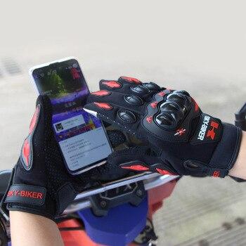 Guantes de verano para hombre y mujer con pantalla táctil, Guantes de Moto para montar a caballo, Guantes de protección para Motocross