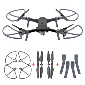 Image 1 - 2pairs Foldable CW CCW Propellers for FIMI X8 SE 2020 Propeller Guard Landing Gear Support Heighten Leg Drone Accessories