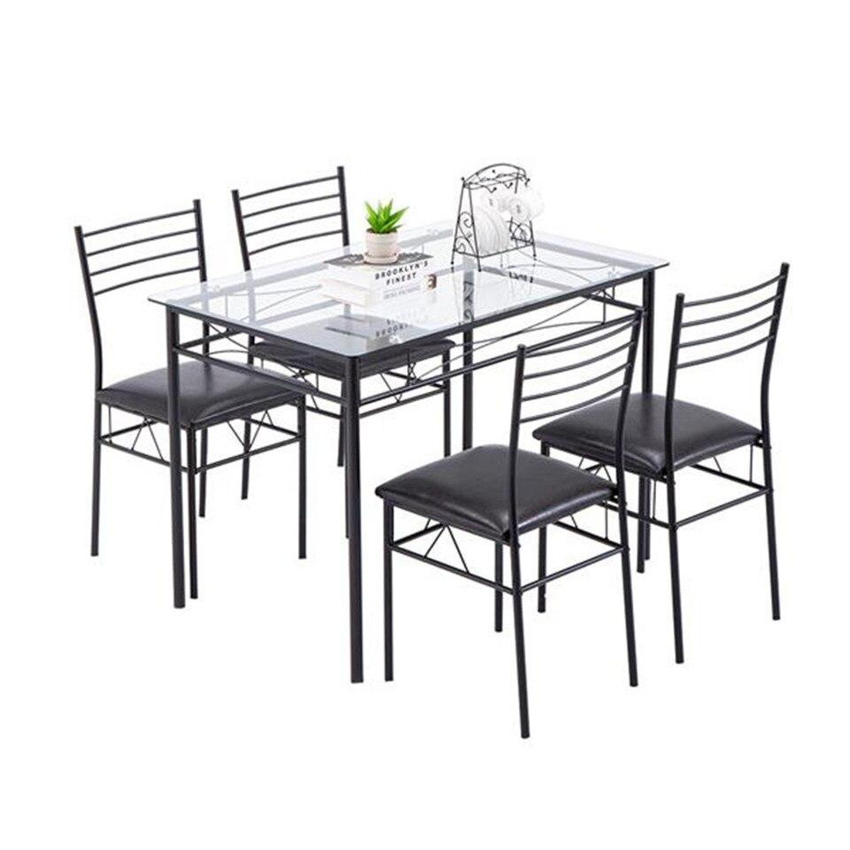 Negro COSTWAY Juego de 3 Piezas Mueble para Comedor 1 Mesa y 2 Taburete Set para Cocina de Madera y Metal