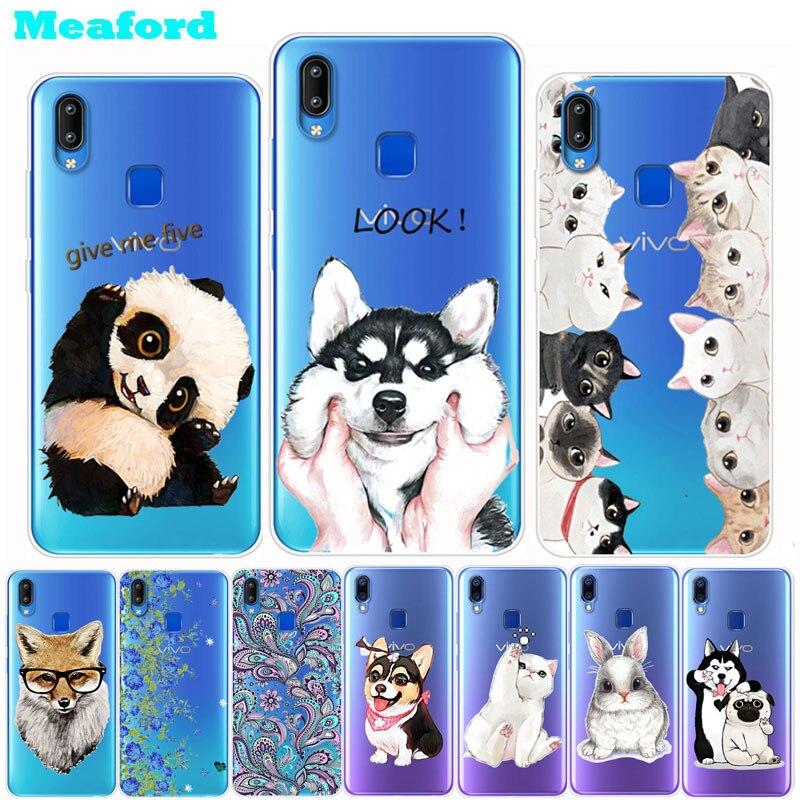 For Vivo Y95 Case Cute Animal Soft TPU Clear Back Cover For Vivo Y95 Y 95 Cases Vivo Y93 lite Y91 Y91i Y9iC U1 Silicone Bumper