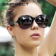 SIMPRECT Round Sunglasses Women 2019 Black Oversized