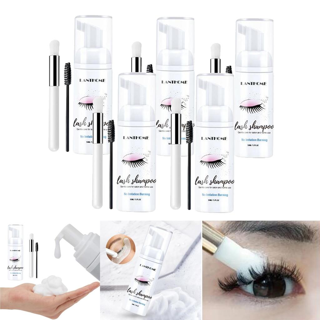 5x Eyelash Extension Shampoo 50ml Lash Foam Foaming Cleanser for Salon Home
