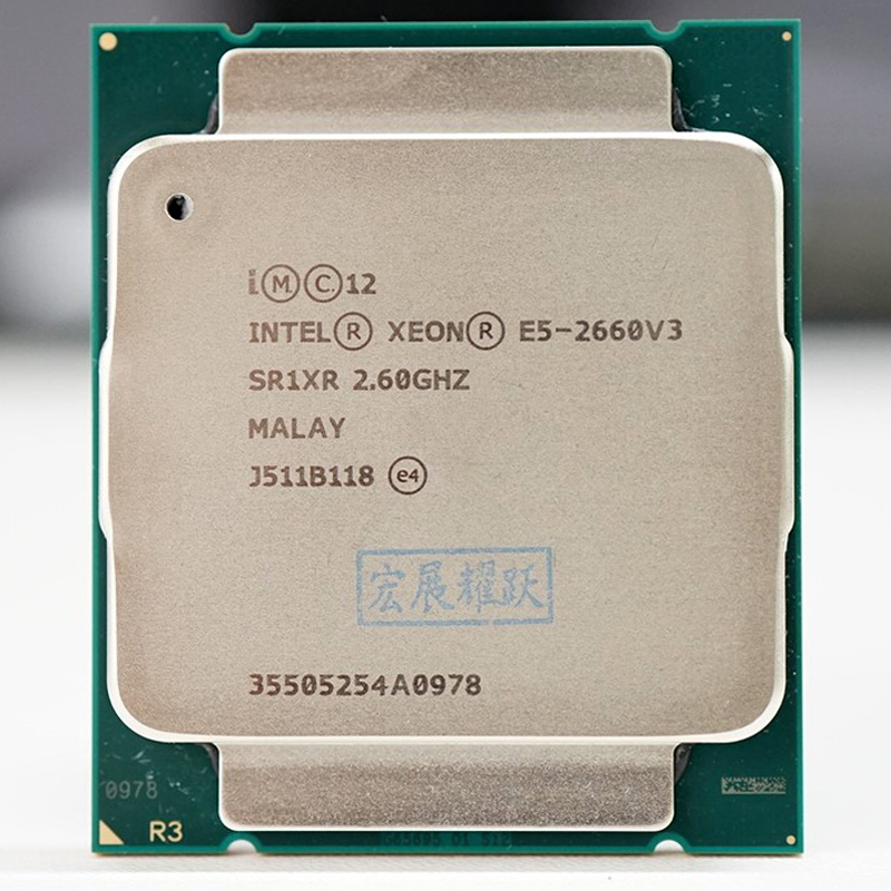 Процессор Intel Xeon E5 2660 V3 CPU 2,6G Serve LGA 2011-3 E5-2660 V3 2660V3 для ПК, центральный процессор для компьютера, б/у, совместим с материнской платой X99