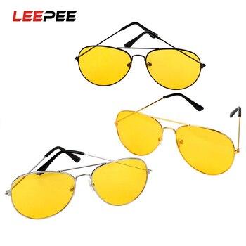 Gafas de conducción polarizadas LEEPEE, gafas de visión nocturna para conductores de automóviles, gafas de sol polarizadas antideslumbrantes, accesorios para automóviles de aleación de cobre