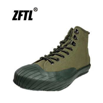 ZFTL Vulcanized shoes men's Cavans High top canvas shoes Retro Tooling male Sneakers vintage lace-up casual shoes ArmyGreen