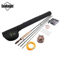 SeaKnight MAXWAY Fly Fishing Kit 7/8/9/10ft 4 Sections Fly Fishing Rod+Reel+Line+Bag+Biat for Lake River Fishing Tackle Combo