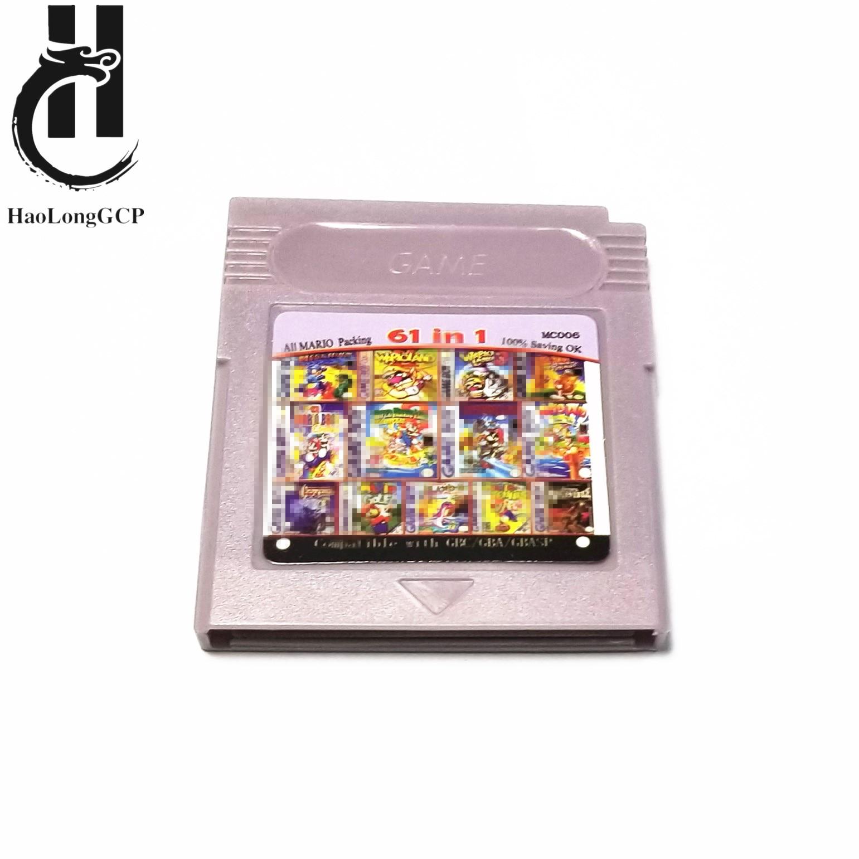 Cartucho de juego 61/108 en 1, tarjeta de juegos de 8/32 bits para Nintendo GBC, para consola de juegos de la serie gb, versión en inglés, Envío Gratis