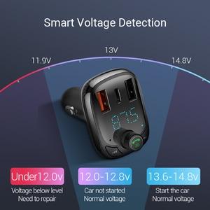 Image 5 - Baseus Quick Charge 4.0 Car Charger FM Transmitterบลูทูธแฮนด์ฟรีFM Modulator PD 3.0 Fast USB Car ChargerสำหรับiPhone
