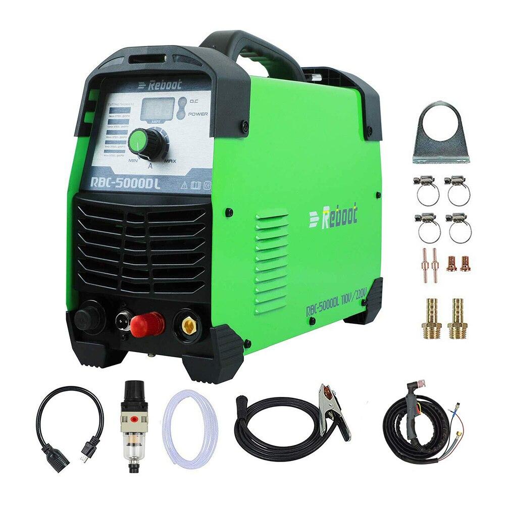 Plasma Cutter Pilot Arc CUT 50Amp Nicht Touch 110/220V IGBT Luft Plasma Schneiden Maschine Dual Volt HF cutter Inverter 1/2