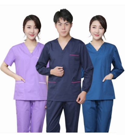 Men Hospital Medical Scrubs Set Long Sleeve Nursing Uniform Clothing Beauty Salon Uniforms Nurse Scrub Shirt Pant Surgical Cloth