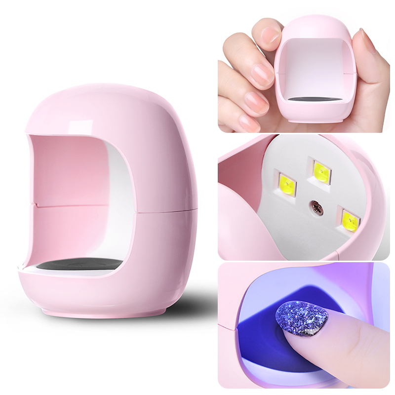 3W Nail Dryer Egg Shape UV LED Lamp Drying Lamp For All Gel Polish USB Charge 30s Fast Dry Machine Nail Lamp Portable Nail Tool