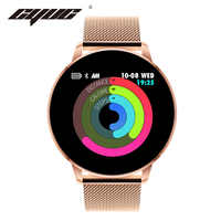 CYUC Q8 avancé 1.3 pouces couleur écran fitness tracker rappel d'appel montre intelligente moniteur de fréquence cardiaque smartwatch hommes mode
