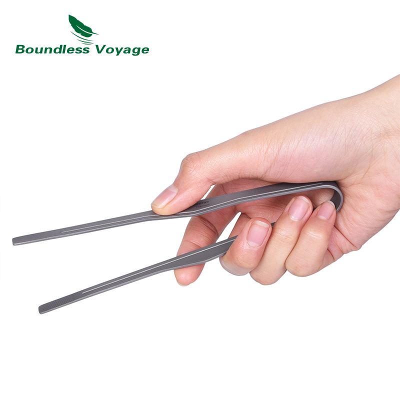 Boundless Voyage Titanium Kitchen Tongs Tea Cup Clip Anti-scalding Easy Grip Clip Tong Lightweight Handy Utensil For Cooking