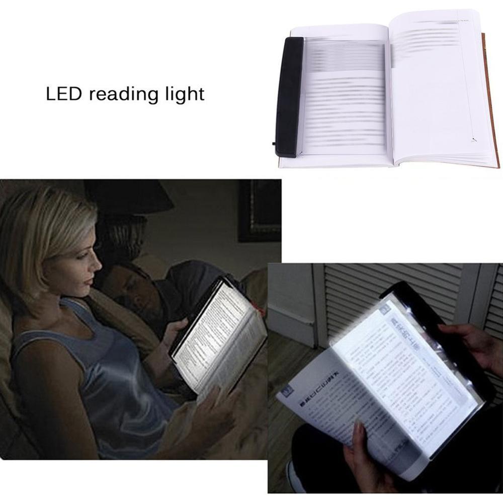 Adjustable Brightness LED Book Reading Light Plat Panel Kid Student Night Reading Light Eyes Protective Lamps Flat Reading Light