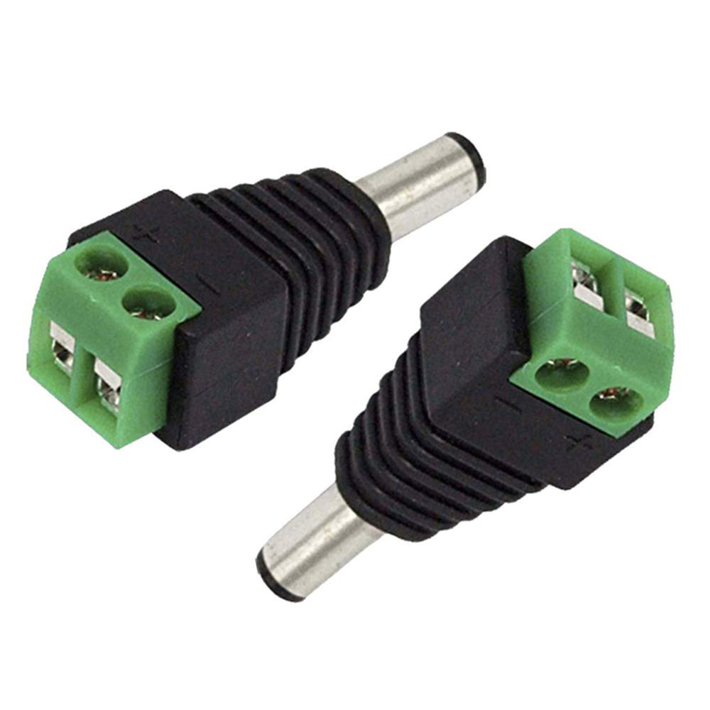 10PCS Female DC Power Jack & Plug Screw-on Wire Connector For Cctv Camera