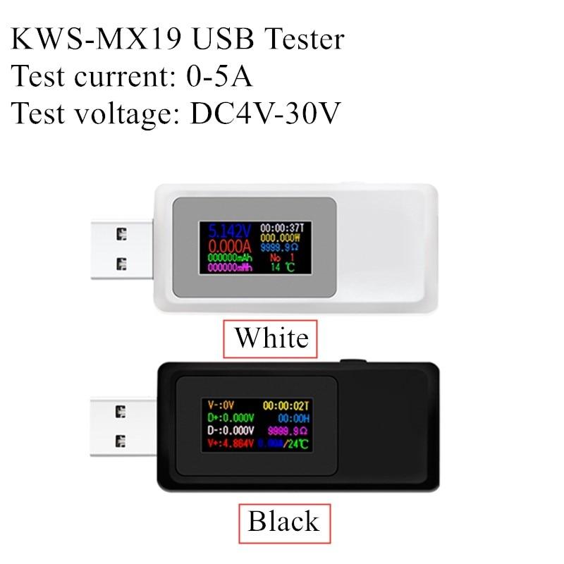 USB Tester DC 4V-30V 0-5A Current Voltage Meter Timing Ammeter Digital Monitor Cut-off Power Indicator Bank Charger 40%off