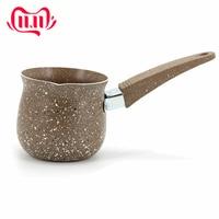 1 pçs alumínio turco pote de café para criativo artesanal leite sopa pote longo lidar com copo de café novas ferramentas cozinha acessório|Cafeteiras| |  -