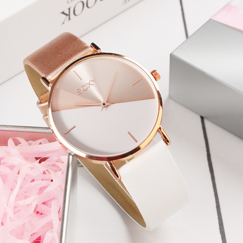 top brand women's watch leather rose gold dress female clock luxury brand design women watches simple fashion ladies watch 1