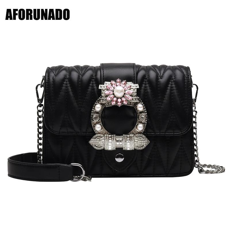 Famous Luxury Handbags Women Bags Designer Diamonds Pearl Style Shoulder Bags Fashion PU Leather Crossbody Bags For Women 2019