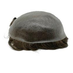 Peluquín de piel súper fino para hombres, reemplazo de pelo de nudo fuerte, línea de cabello frontal indetectable, envío rápido