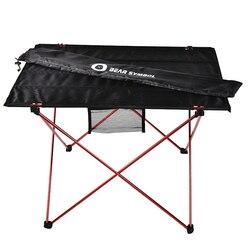 Dış mekan mobilyası masa kırmızı katlanır kamp masası açık renk ağırlık Ultralight masası balıkçılık masaları Modern katlanabilir mobilya