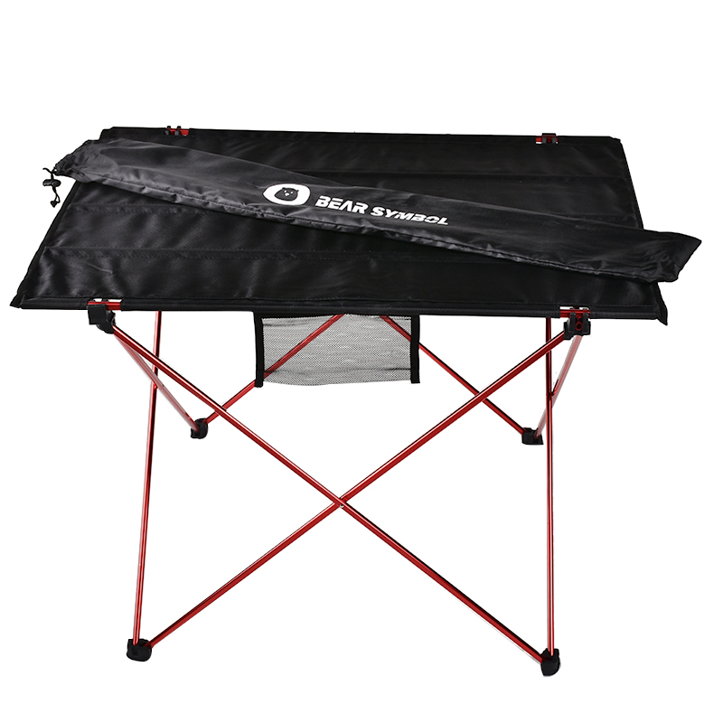 Outdoor Furniture Table Desk Folding Ultralight Camping Modern Red title=