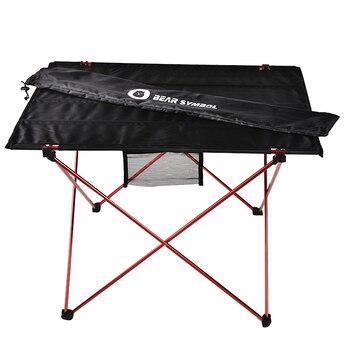 Table de meubles d'extérieur Table de Camping pliante rouge couleur claire poids Tables de pêche de bureau ultralégères meubles pliables modernes