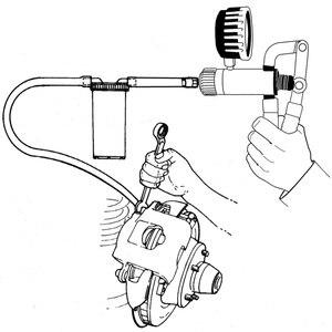 Image 2 - Auto narzędzie diagnostyczne samochód Auto ręczny pistolet próżniowy pompa hamulca odpowietrznik adapter zbiornik płynu Tester oleju zestaw narzędzi