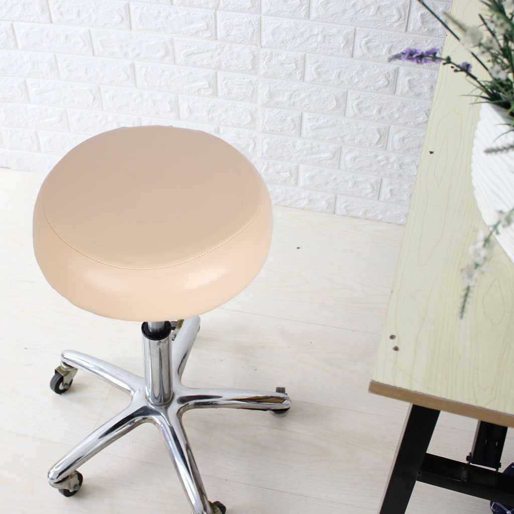 Home Bar Stool Covers Pu Leather Round Chair Seat Cushions Sleeves Chair Cover Aliexpress
